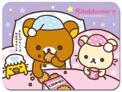 Rilakkuma Bed Time Mouse Mat Japanese Animation Kawaii Cute Relax Bear Mouse pad